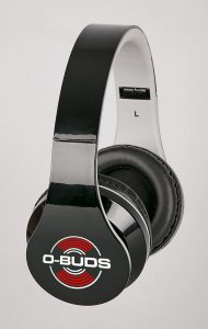 O-Bud BT Headphones - Black with o-bud logo